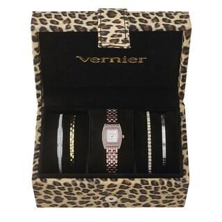 Vernier Women's Rosetone Stainless Steel V1000SET Watch and Cheetah Print Jewelry Box Set|https://ak1.ostkcdn.com/images/products/10454280/P17546826.jpg?_ostk_perf_=percv&impolicy=medium
