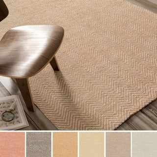 Hand-Woven Suffolk Reversible Jute Area Rug - 8' x 11'
