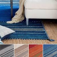 Hand-Woven Recar Stripe Reversible Area Rug (8' x 10')