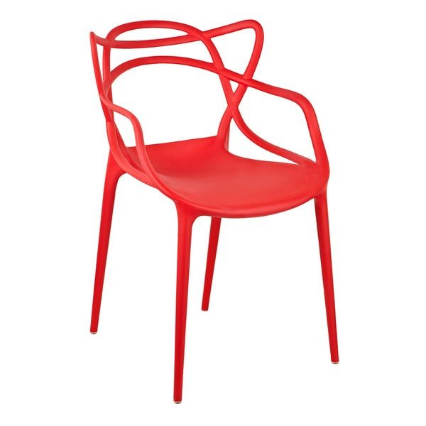 Gabriel Red Stackable Accent Chair (Set of 2)