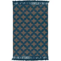 Hand-Woven Madeley Geometric Reversible Wool Area Rug - 8' x 10'