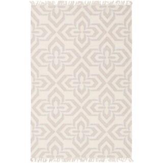 Hand-Woven Lomawai Geometric Reversible Wool Rug (8' x 10')