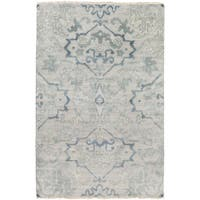 Hand-Knotted Keswick Floral New Zealand Wool Area Rug