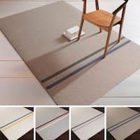 Hand-Woven Sudbury Stripe Indoor Wool Area Rug - 8' x 11'