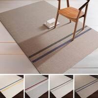 Hand-Woven Sudbury Stripe Indoor Wool Area Rug