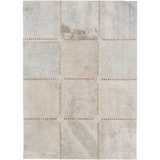 Hand-Crafted Thirsk Crosshatched Indoor Cotton Rug (4' x 6')