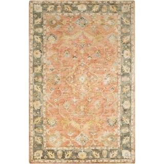 Hand-Tufted Morpeth Border Indoor Wool Area Rug - 2' x 3'
