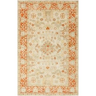 Hand-Tufted Mitcham Border Indoor Wool Rug (2' x 3')