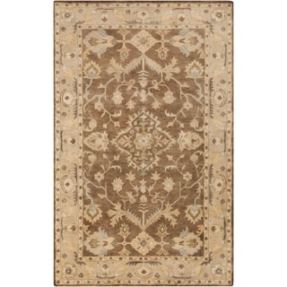 Hand-Tufted Margate Border Indoor Wool Rug (8' x 10')