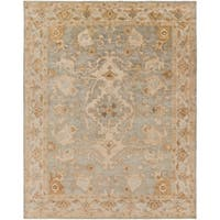 Hand-Tufted Malvern Medallion Indoor Wool Area Rug - 8' x 10'