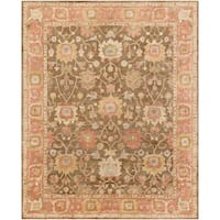 Hand-Tufted Maghull Border Indoor Wool Area Rug - 8' x 10'