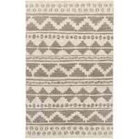 The Curated Nomad Rockaway Hand-woven Chevron Jute Area Rug - 8' x 11'