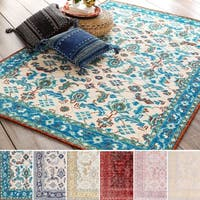 Hand-Knotted Seaham Floral Indoor Wool Area Rug (8' x 11')