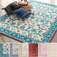 Hand-Knotted Seaham Floral Indoor Wool Area Rug - 8' x 11'