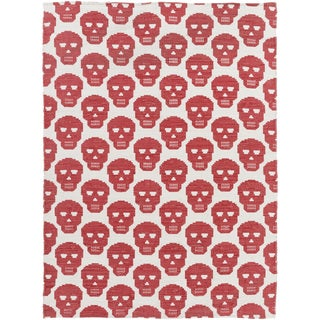Hand-Woven Seaton Print Indoor Cotton Rug (8' x 10')