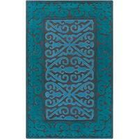 Hand-Woven Shildon Damask Wool Area Rug - 8' x 10'