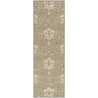 Hand-Tufted Widnes Floral Wool Rug (3' x 12')