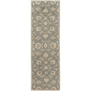Hand-Tufted Watton Floral Wool Rug (3' x 12')