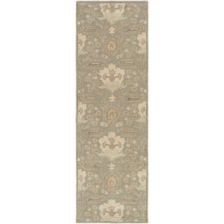 Hand-Tufted Widnes Floral Wool Rug (2'6 x 8')