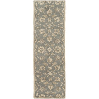 Hand-Tufted Watton Floral Wool Rug (2'6 x 8')