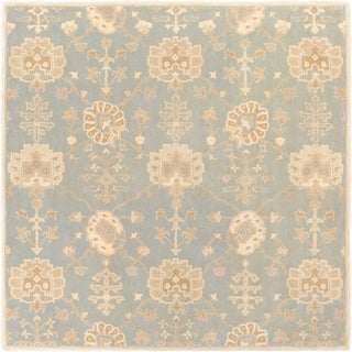 Hand-Tufted Syston Floral Wool Rug (9'9 Square)