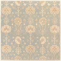 Hand-Tufted Syston Floral Wool Area Rug - 9'9 x 9'9
