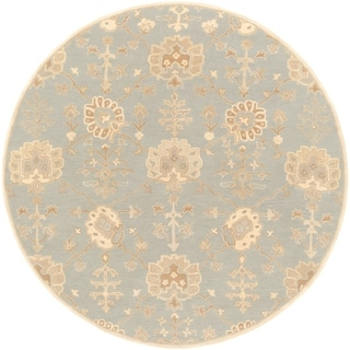 Hand-Tufted Syston Floral Wool Rug (9'9 Round)