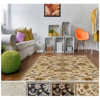 Hand-Tufted Wigton Floral Wool Area Rug - 8' x 8'