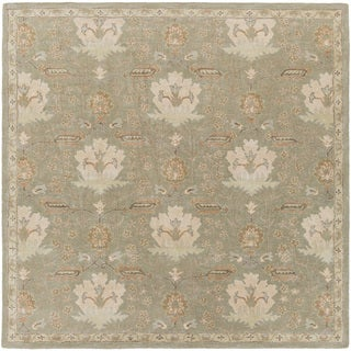 Hand-Tufted Widnes Floral Wool Rug (8' Square)