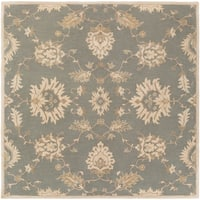Hand-Tufted Watton Floral Wool Area Rug (8' Square)