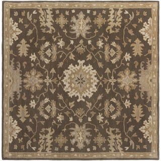 Hand-Tufted Tipton Floral Wool Rug (8' Square)