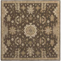 Copper Grove Kavir Hand-Tufted Floral Wool Area Rug - 8' Square