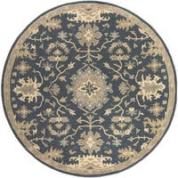 Hand-Tufted Tipton Floral Wool Area Rug - 8' x 8'