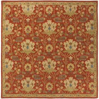 Copper Grove Kavir Hand-Tufted Floral Wool Area Rug - 6' Square