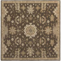 Hand-Tufted Tipton Floral Wool Area Rug (6' Square)