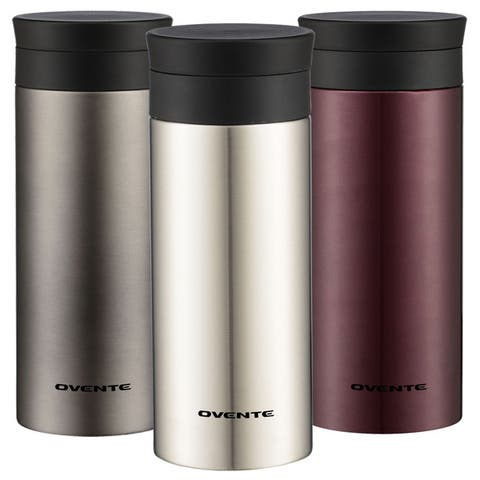 Ovente Tumbler 12 oz. and Flavor Infusing Travel Mugs (Set of 2) MSA12