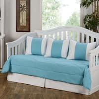 Cabana Turquoise Blue 5-Piece Cotton Daybed Set