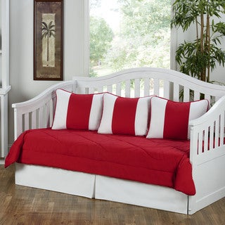 Cabana Red and White 5-piece Daybed Set