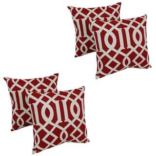 Blazing Needles Kirkwood 17-inch Spun Polyester Outdoor Throw Pillows (Set of 4)