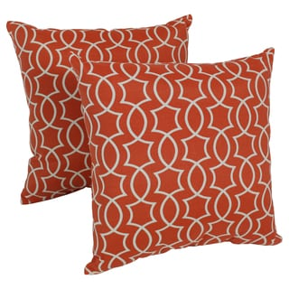 Blazing Needles Titan 17-inch Spun Polyester Outdoor Throw Pillows (Set of 2)
