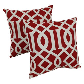 Blazing Needles Kirkwood 17-inch Spun Polyester Outdoor Throw Pillows (Set of 2)
