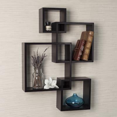 Danya B. Intersecting Cube Shelves - Espresso