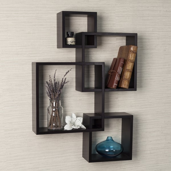 Danya B. Intersecting Cube Shelves - Espresso. Opens flyout.