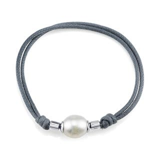 Radiance Pearl Rice Shaped Freshwater Pearl and Rope Bracelet (11-12mm)|https://ak1.ostkcdn.com/images/products/10454524/P17547078.jpg?impolicy=medium