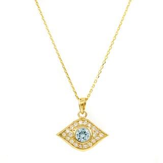 Brass Gold Evil Eye Necklace