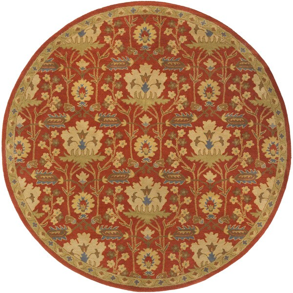 Copper Grove Kavir Hand-Tufted Floral Wool Area Rug (6' Round)