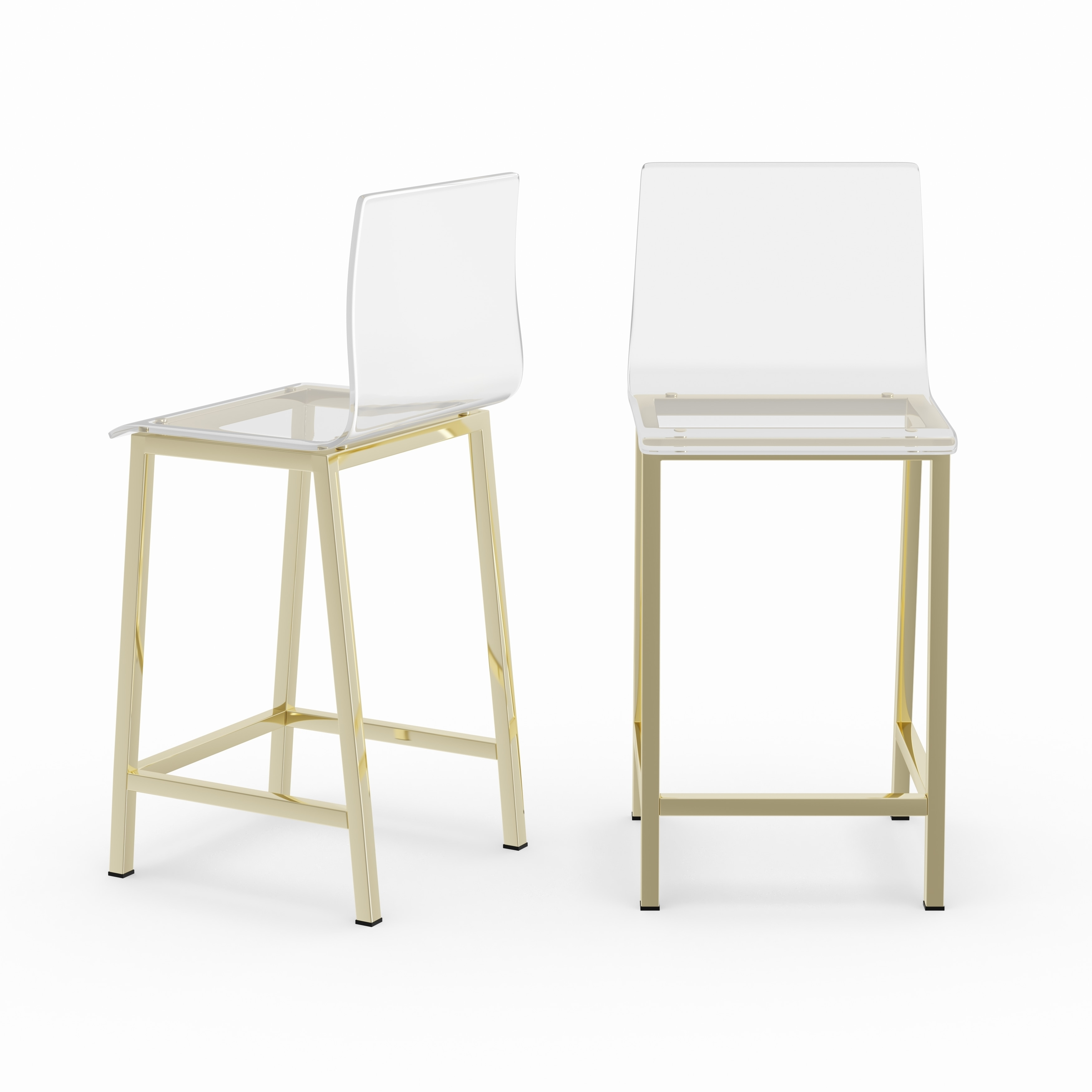 Peachy Silver Orchid Svendsen Clear Acrylic Counter Stool Set Of 2 Unemploymentrelief Wooden Chair Designs For Living Room Unemploymentrelieforg