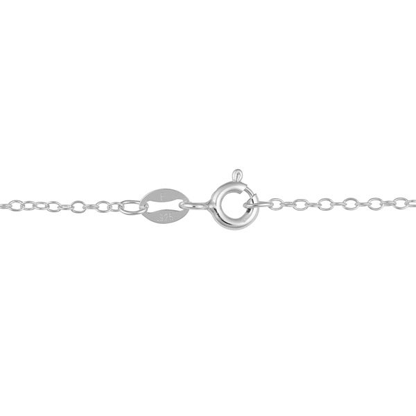 Sterling Silver 1.3mm Fine Open Cable Chain 16 inch