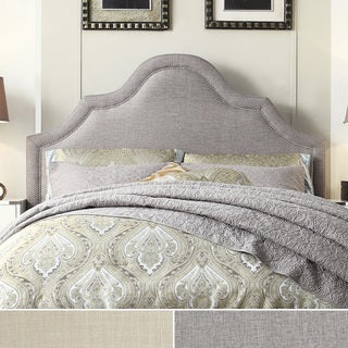 Fletcher Linen Nailhead Arch Curved Full-sized Headboard by iNSPIRE Q Bold
