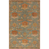 Hand-Tufted Myrna Floral New Zealand Wool Area Rug - 2' x 3'